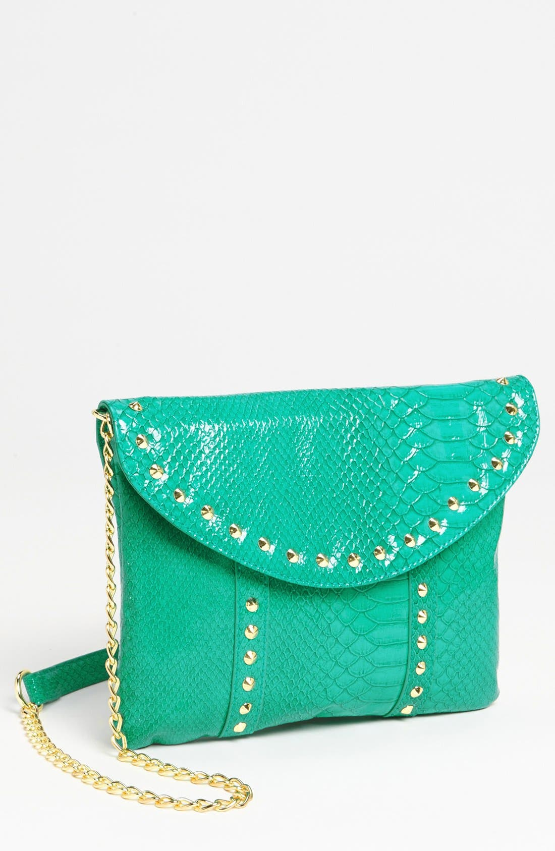 Main Image - Steven by Steve Madden Snake Embossed Faux Leather Crossbody Clutch