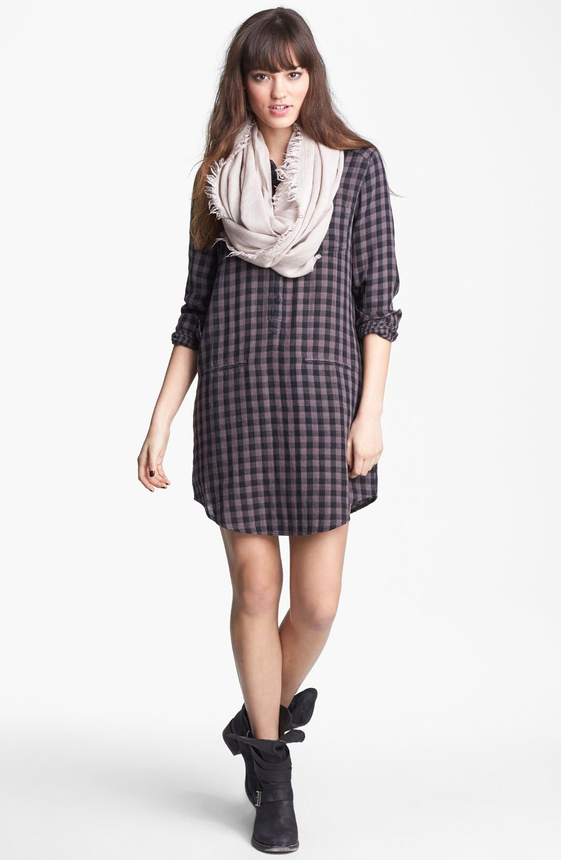 Alternate Image 2  - Rubbish® Plaid Shirtdress (Juniors)