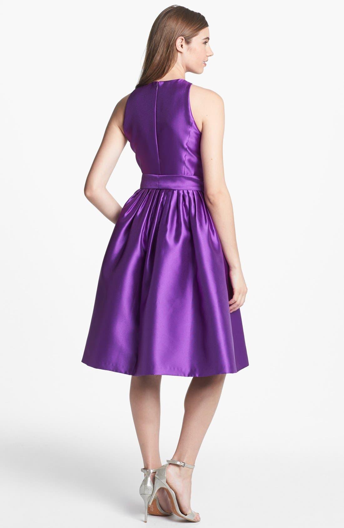 Alternate Image 2  - Isaac Mizrahi New York Mikado Fit & Flare Dress