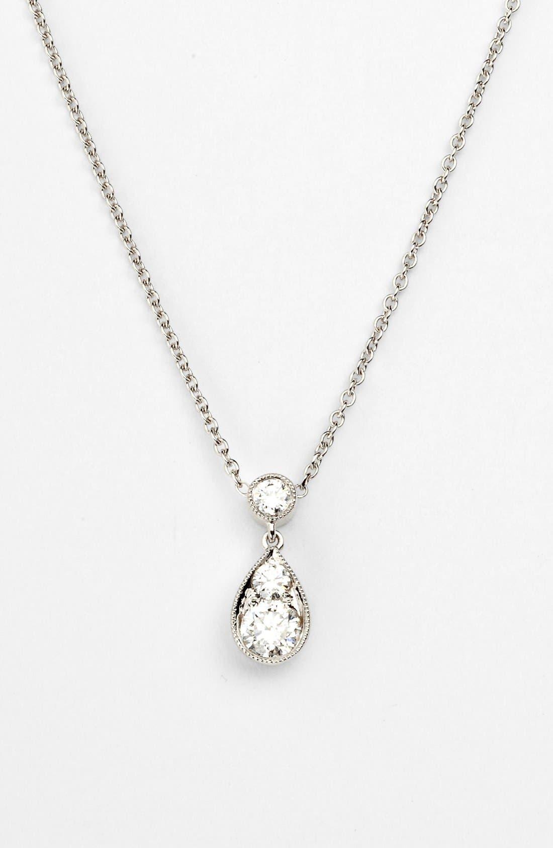 Main Image - Kwiat 'Sunburst' Diamond Teardrop Pendant Necklace