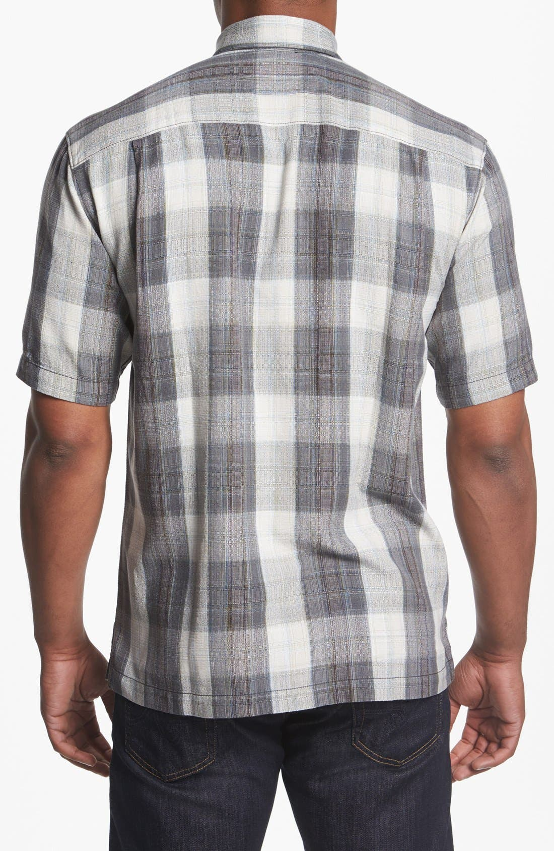 Alternate Image 2  - Tommy Bahama 'Seaside Plaid' Silk Campshirt
