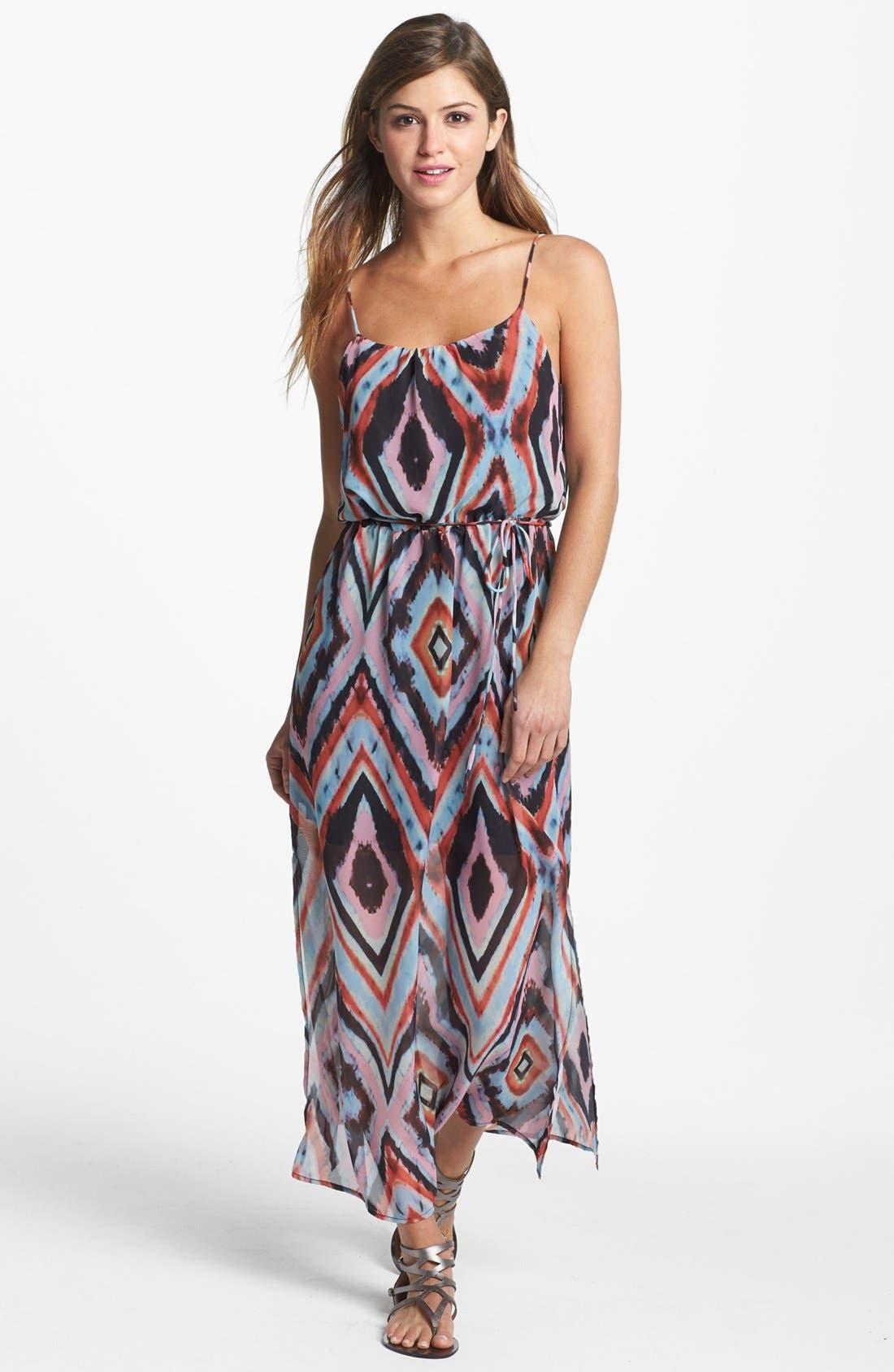 Alternate Image 1 Selected - Olive & Oak Aztec Print Maxi Dress