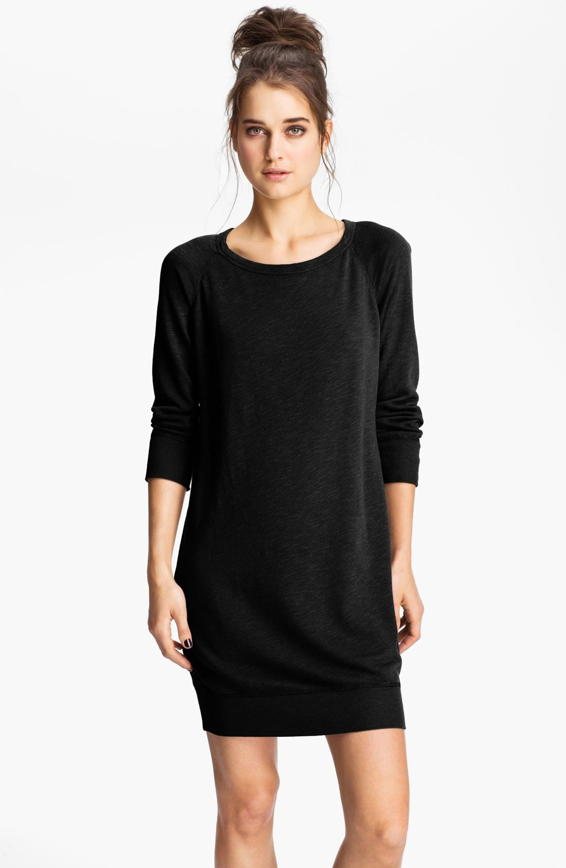 Main Image - James Perse Raglan Sleeve Sweatshirt Dress