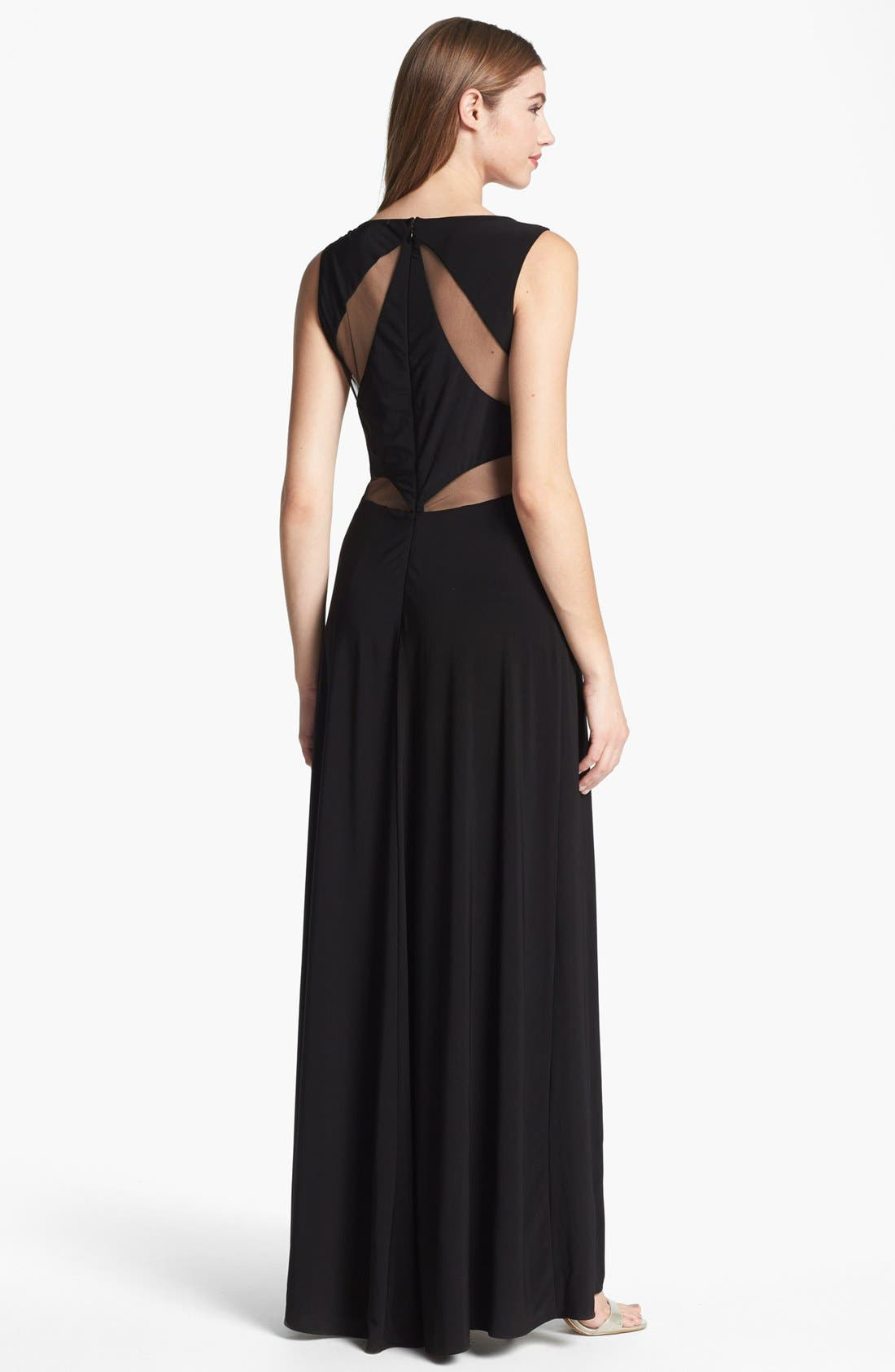 Alternate Image 1 Selected - Hailey by Adrianna Papell Mesh Inset Jersey Gown