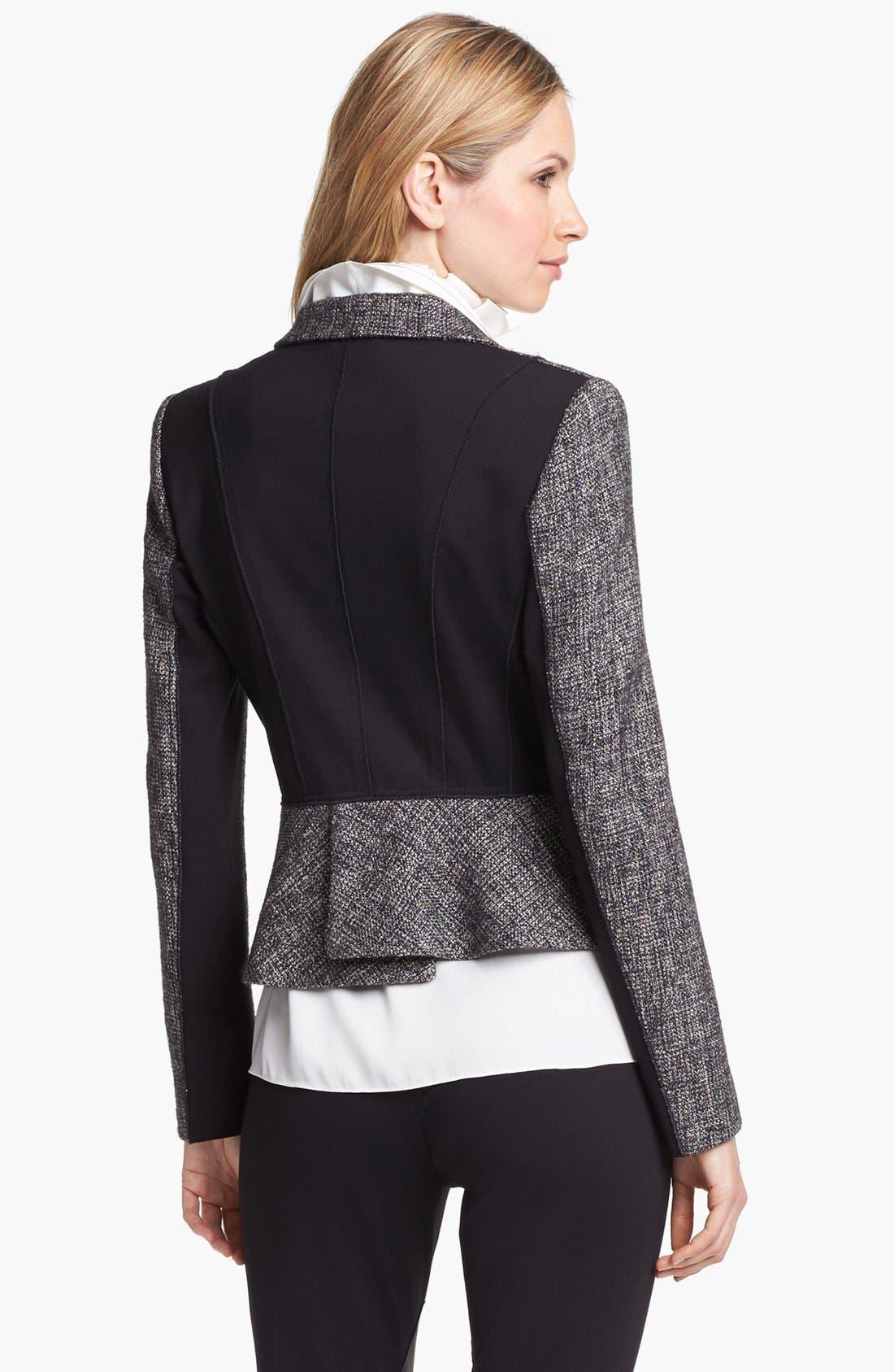 Alternate Image 2  - Elie Tahari 'Minka' Metallic Tweed Jacket