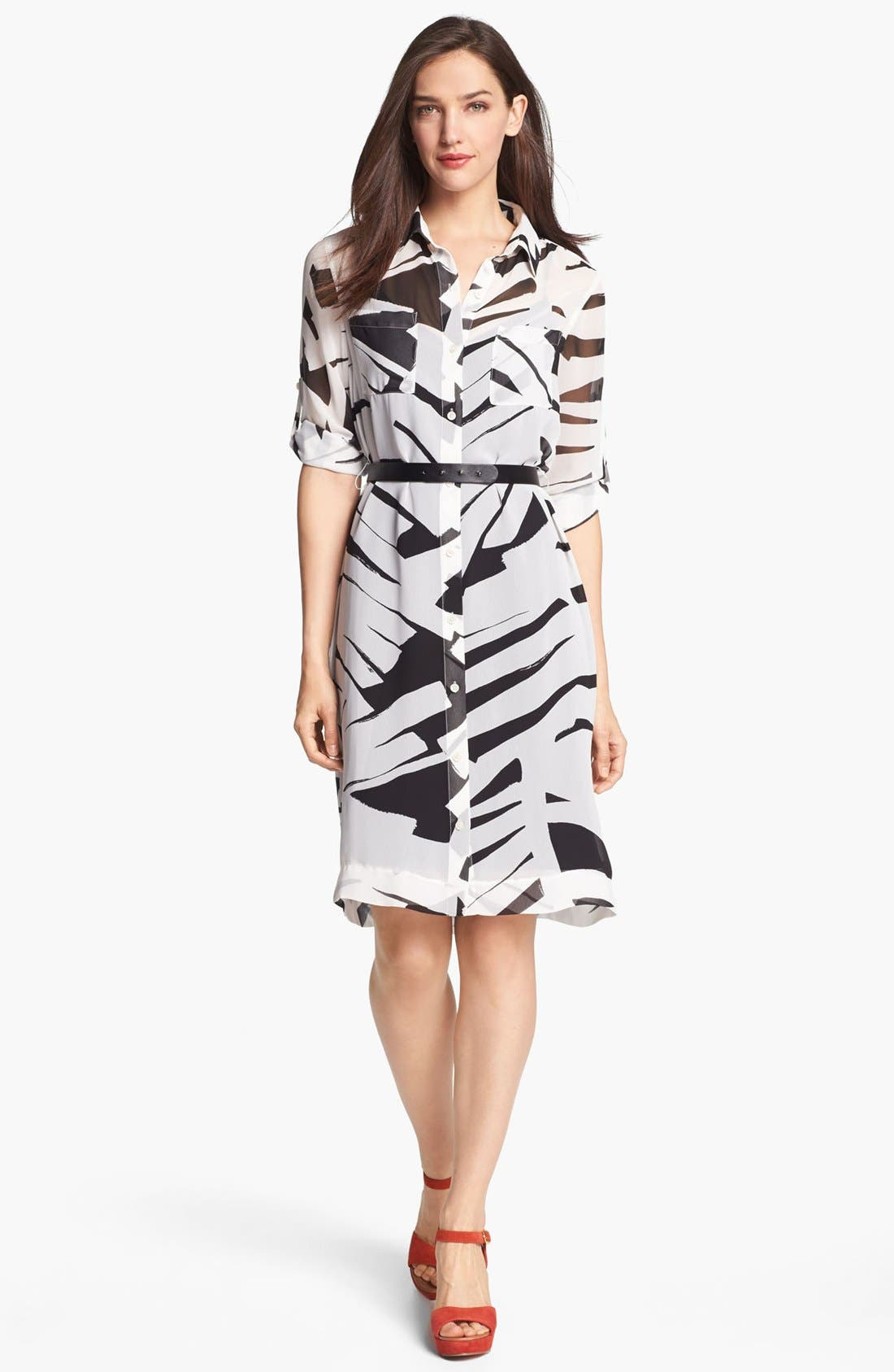 Alternate Image 1 Selected - DKNYC Belted Shirtdress