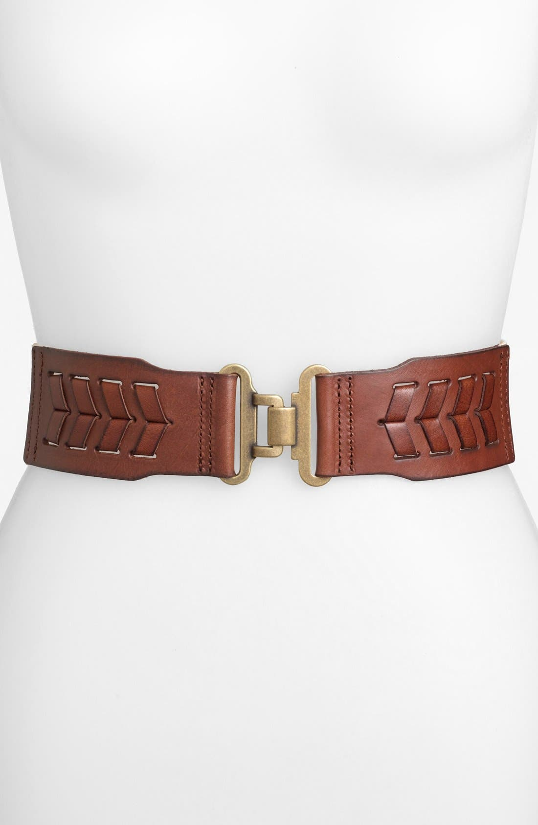 Alternate Image 1 Selected - Fossil Laced Stretch Belt