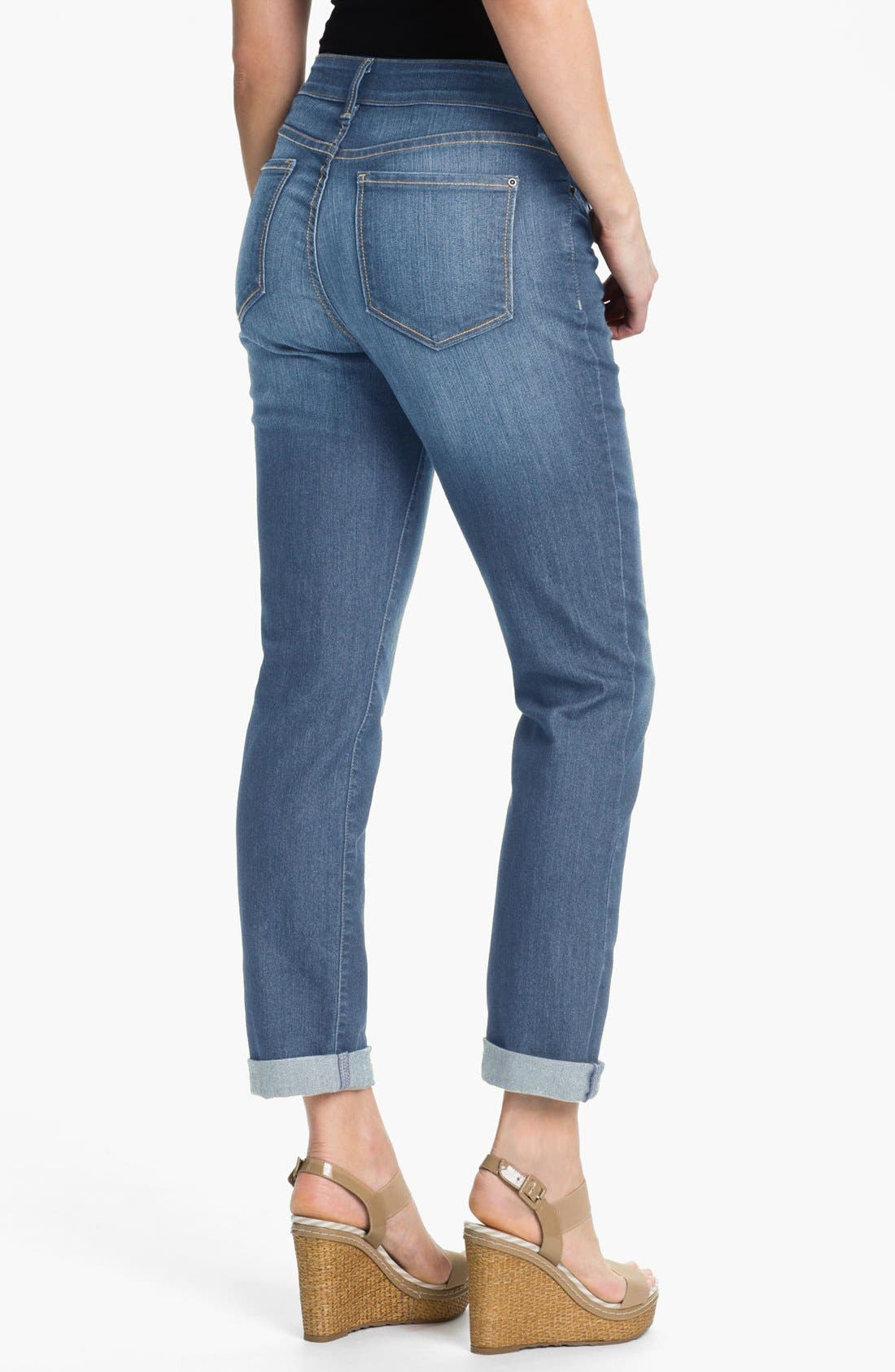 Alternate Image 2  - NYDJ 'Tanya' Stretch Boyfriend Jeans (Modesto) (Plus Size)