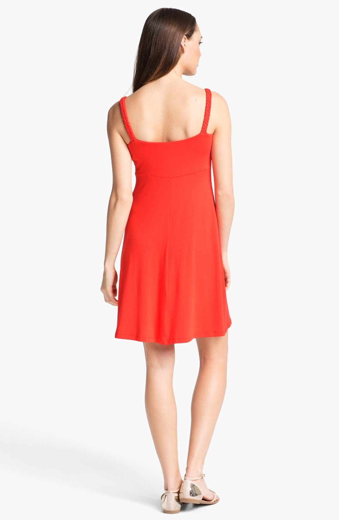 Alternate Image 2  - Calvin Klein Sleeveless A-Line Dress