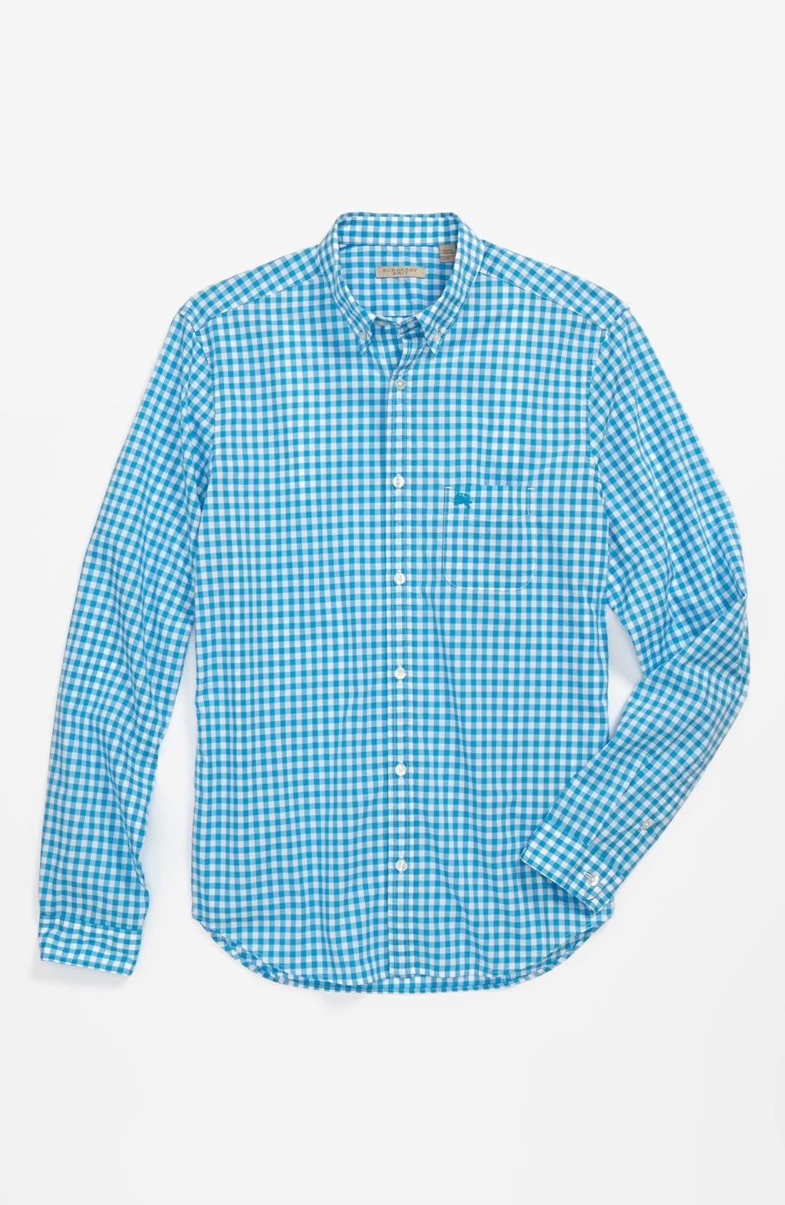 Alternate Image 4  - Burberry Brit 'Adken' Gingham Trim Fit Cotton Sport Shirt