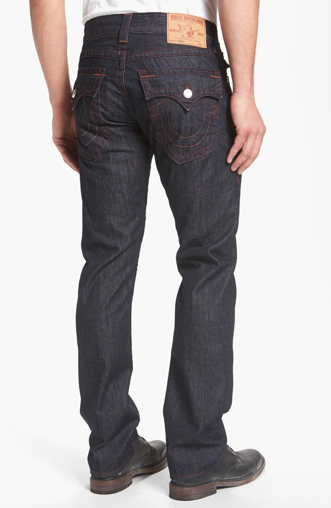 Alternate Image 1 Selected - True Religion Brand Jeans 'Ricky' Straight Leg Jeans (Body Rinse)