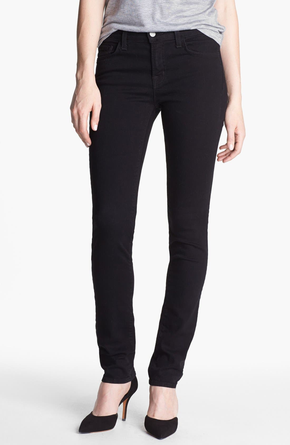 Alternate Image 1  - J Brand '8112' Mid-Rise Rail Jeans (Shadow)