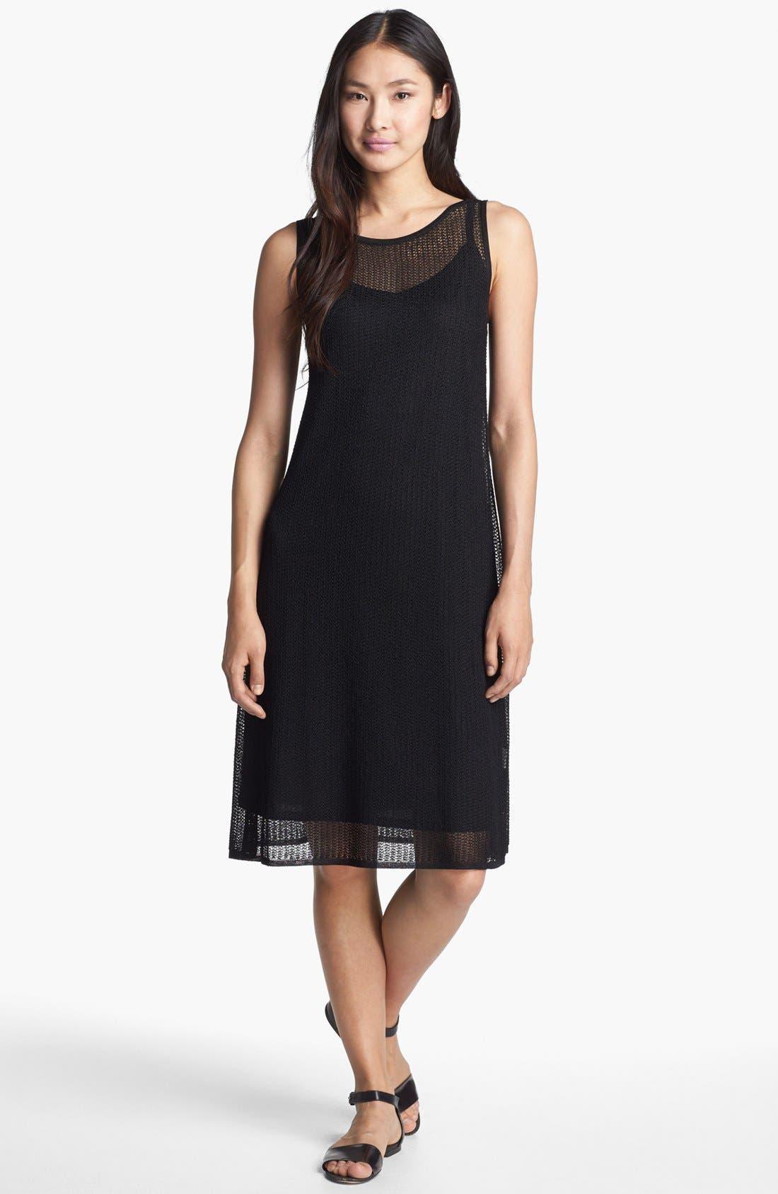 Alternate Image 1 Selected - Eileen Fisher Mesh Knit Dress