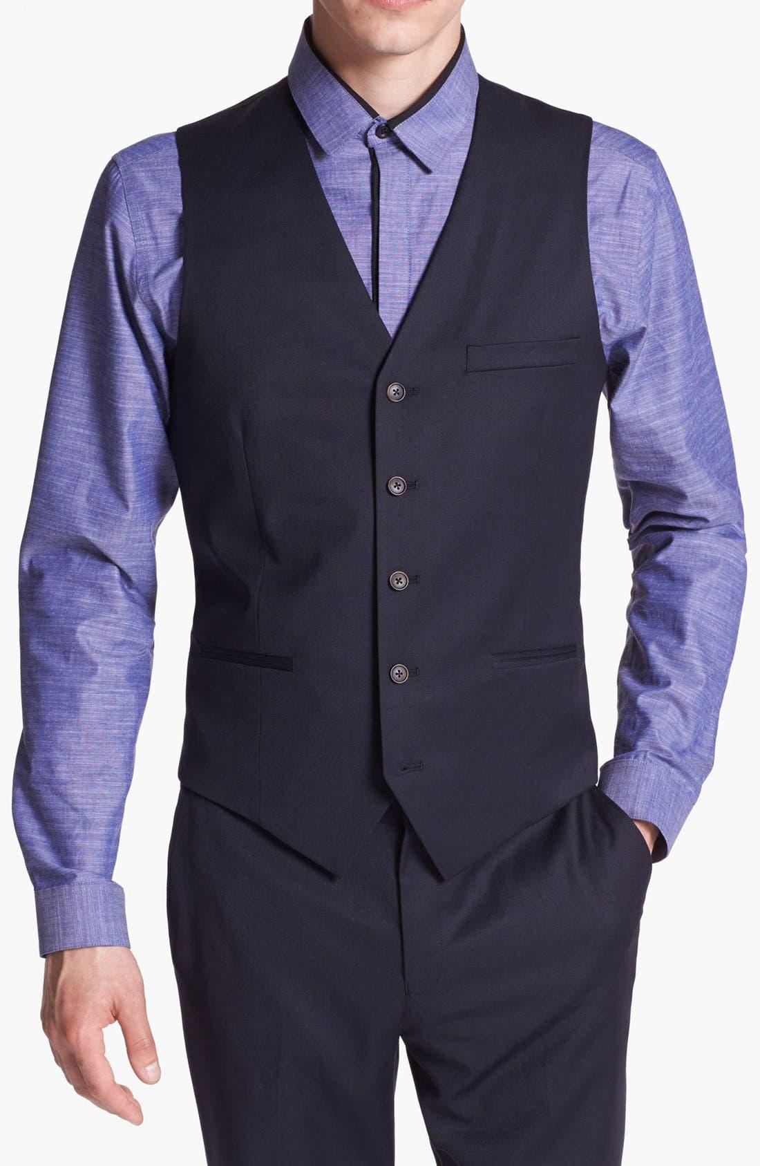 Alternate Image 1 Selected - Topman Skinny Fit Waistcoat
