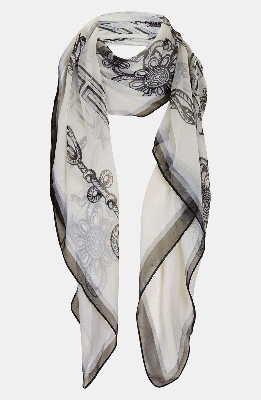 Alternate Image 1 Selected - Topshop Horse Print Chiffon Square Scarf