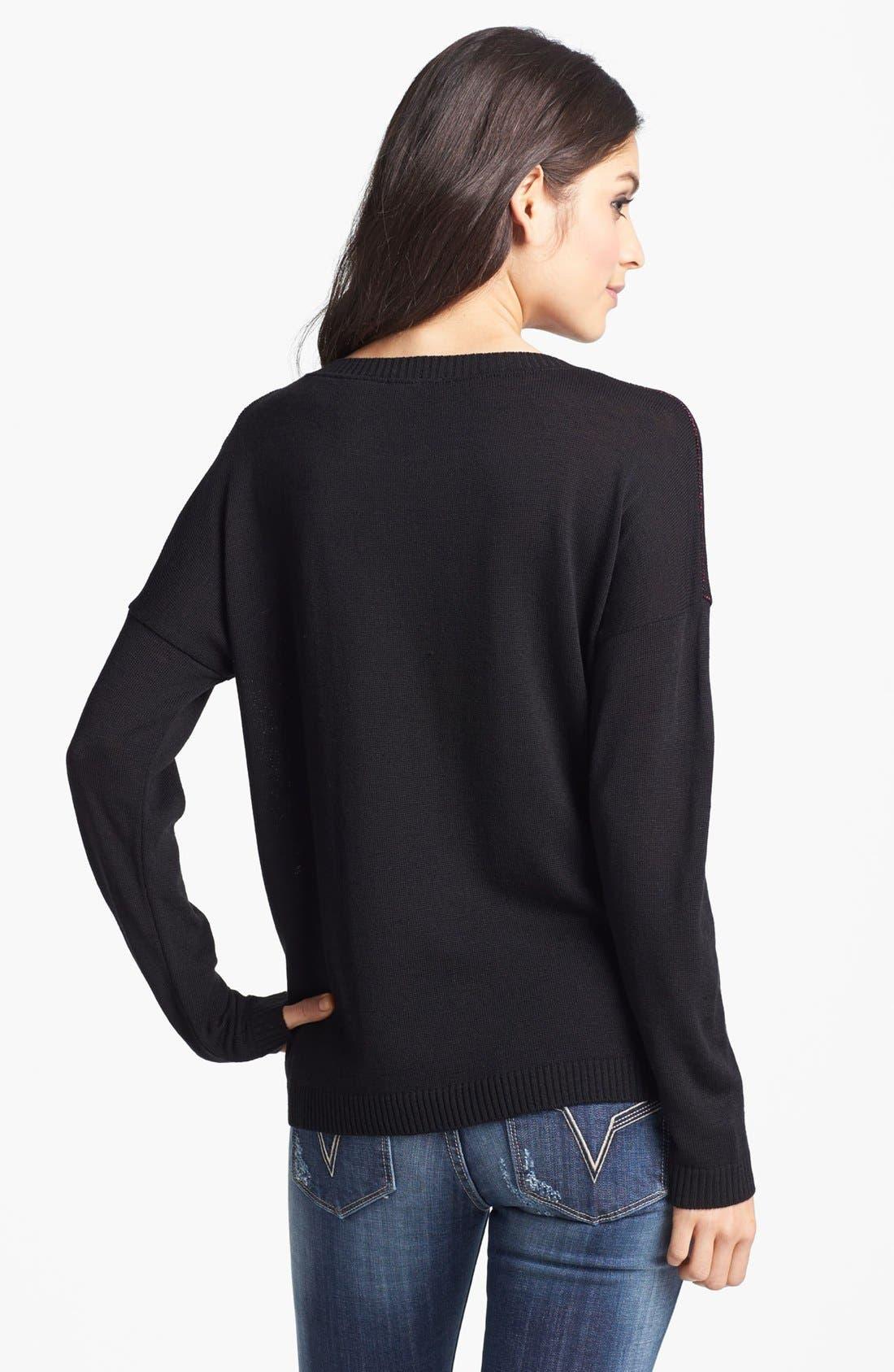 Alternate Image 2  - Truehitt Heart Sweater (Juniors)