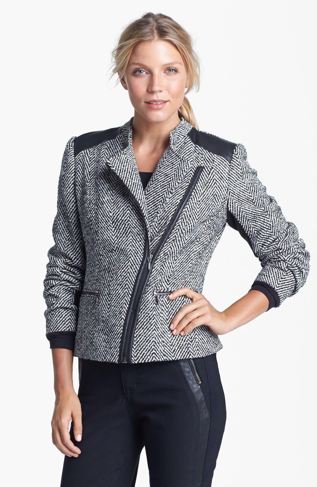Main Image - Amber Sun Tweed Moto Jacket