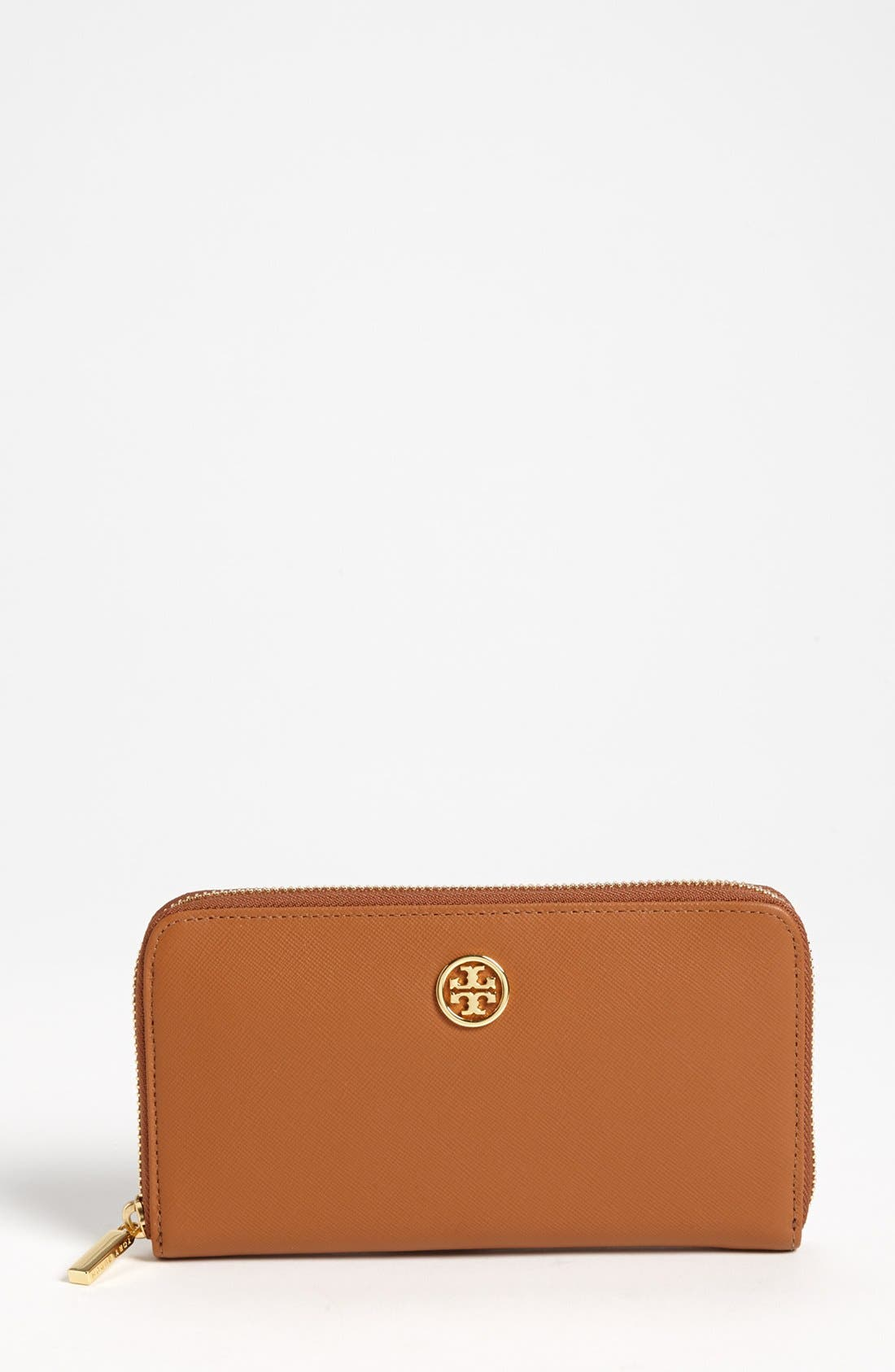 Alternate Image 1 Selected - Tory Burch 'Robinson' Zip Continental Wallet