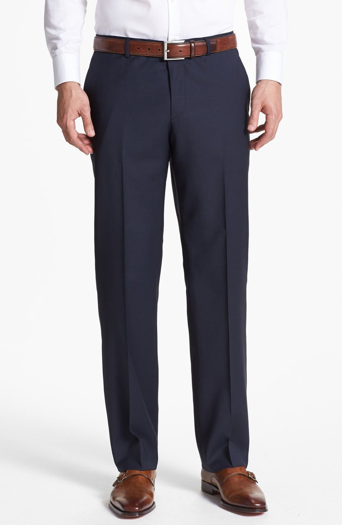 Alternate Image 5  - BOSS HUGO BOSS 'James/Sharp' Trim Fit Three-Piece Suit