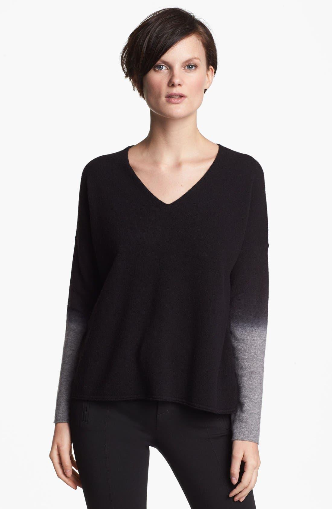 Alternate Image 1 Selected - Vince V-Neck Crop Sweater