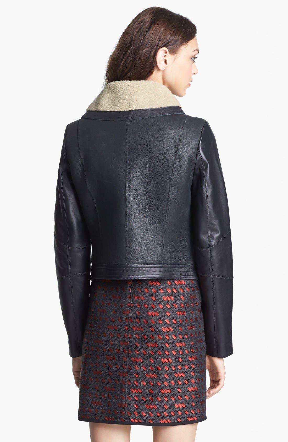 Alternate Image 5  - Miss Wu Genuine Shearling Moto Jacket (Nordstrom Exclusive)