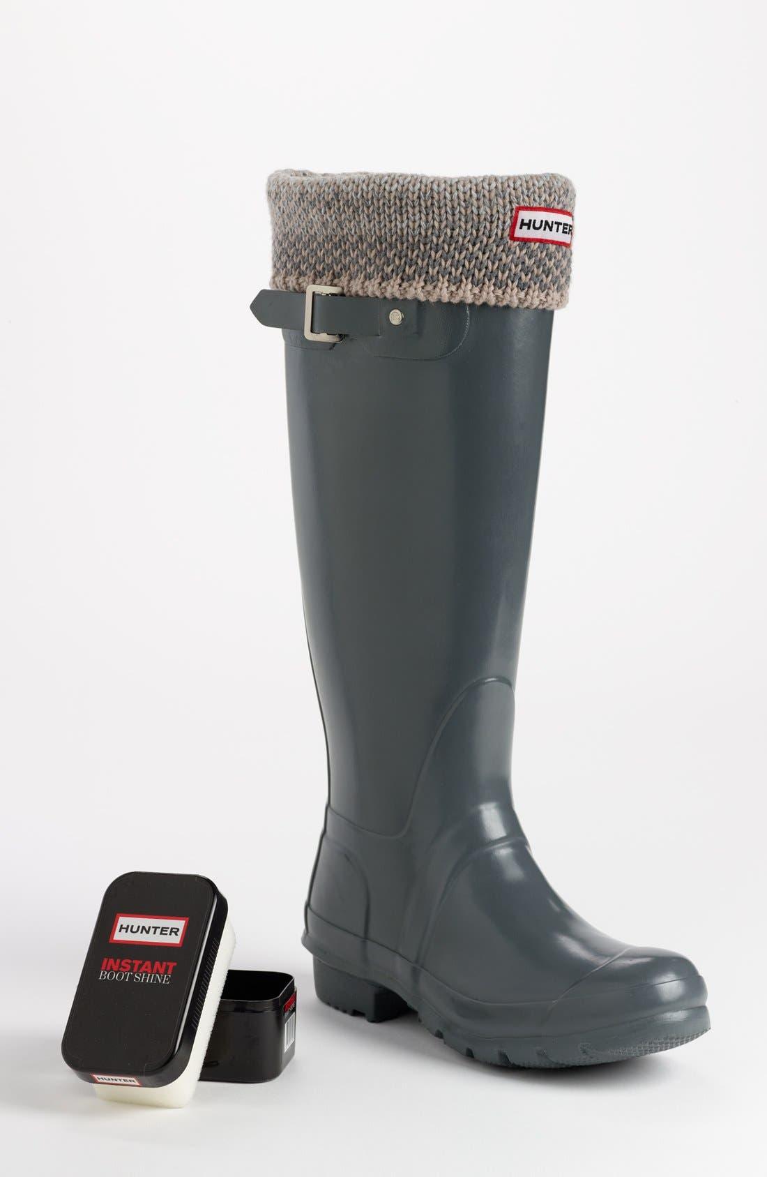 Alternate Image 1 Selected - Hunter 'Original Tall' Gloss Rain Boot, Welly Socks & Instant Boot Shine Sponge