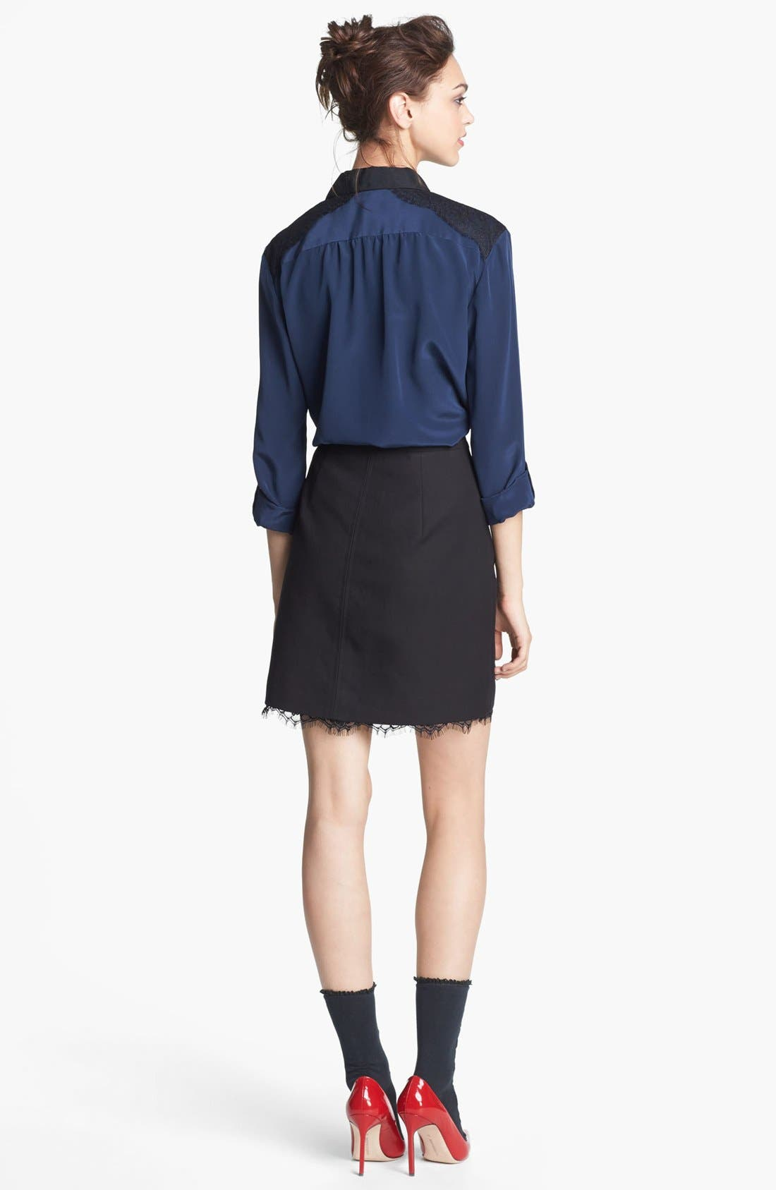 Alternate Image 4  - Miss Wu Lace & Crêpe de Chine Blouse (Nordstrom Exclusive)