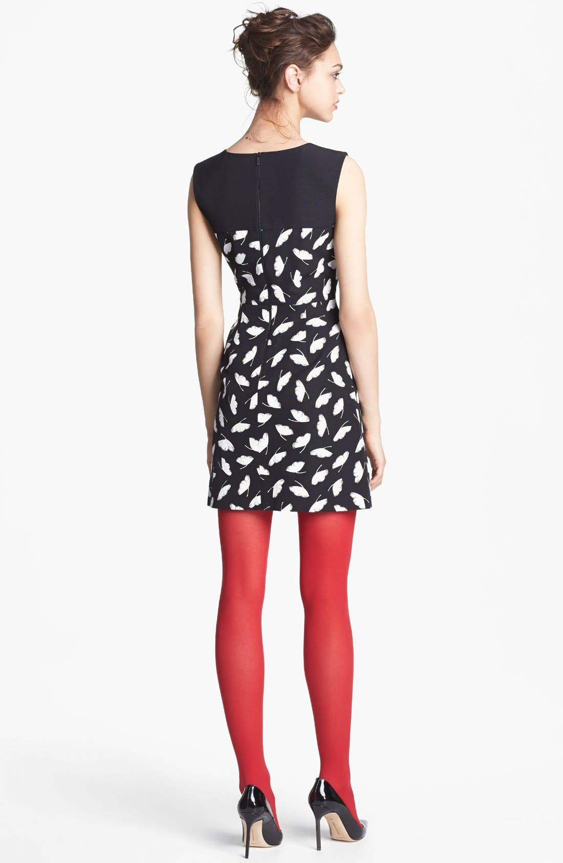 Alternate Image 2  - Miss Wu 'Delicate Leaf' Print Dress (Nordstrom Exclusive)