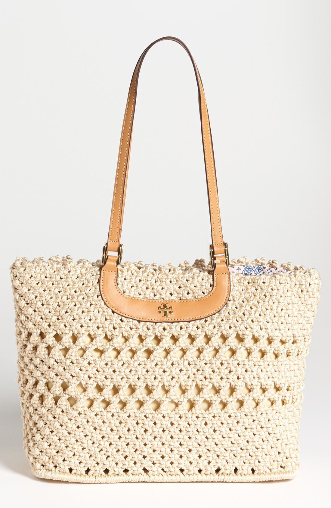 Alternate Image 1 Selected - Tory Burch 'Dawson' Crocheted Tote