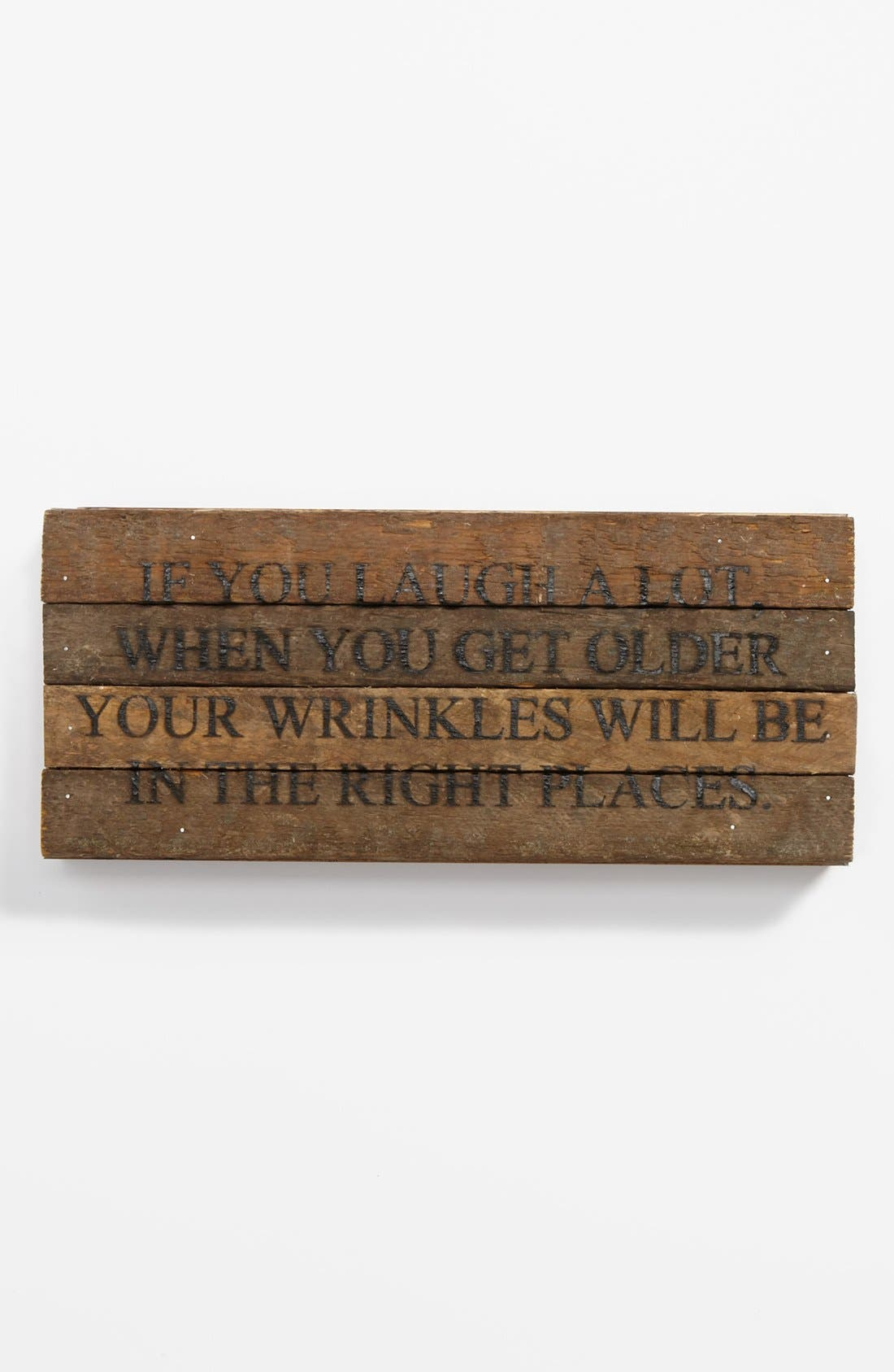 Alternate Image 1 Selected - 'If You Laugh a Lot' Wood Wall Plaque