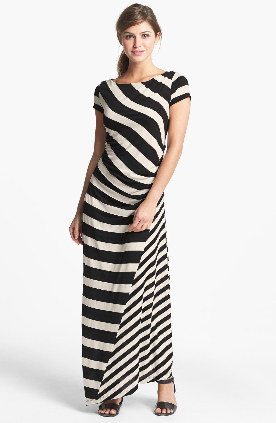 Alternate Image 1 Selected - DKNYC Stripe Maxi Dress