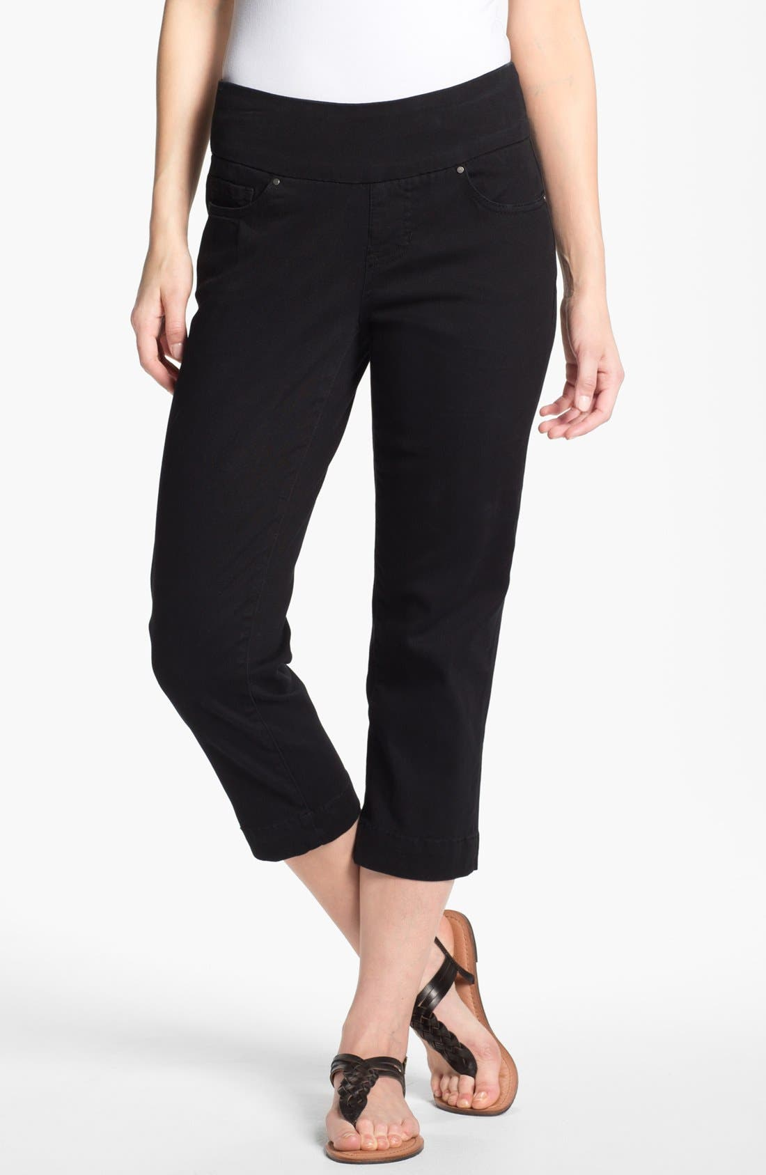 Alternate Image 1 Selected - Jag Jeans 'Fenmore' Crop Twill Pants (Plus Size)