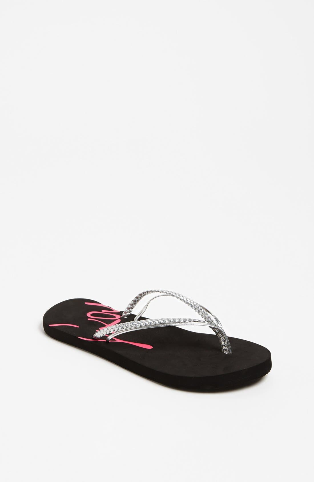 Alternate Image 1 Selected - Roxy 'RG Rio' Flip Flop (Toddler, Little Kids & Big Kid)