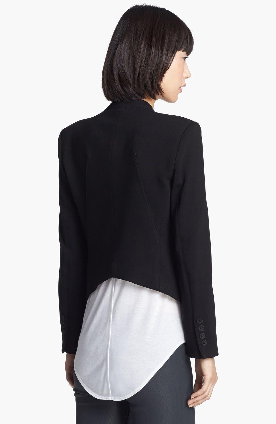 Alternate Image 2  - HELMUT Helmut Lang 'Gala' Knit Tuxedo Blazer