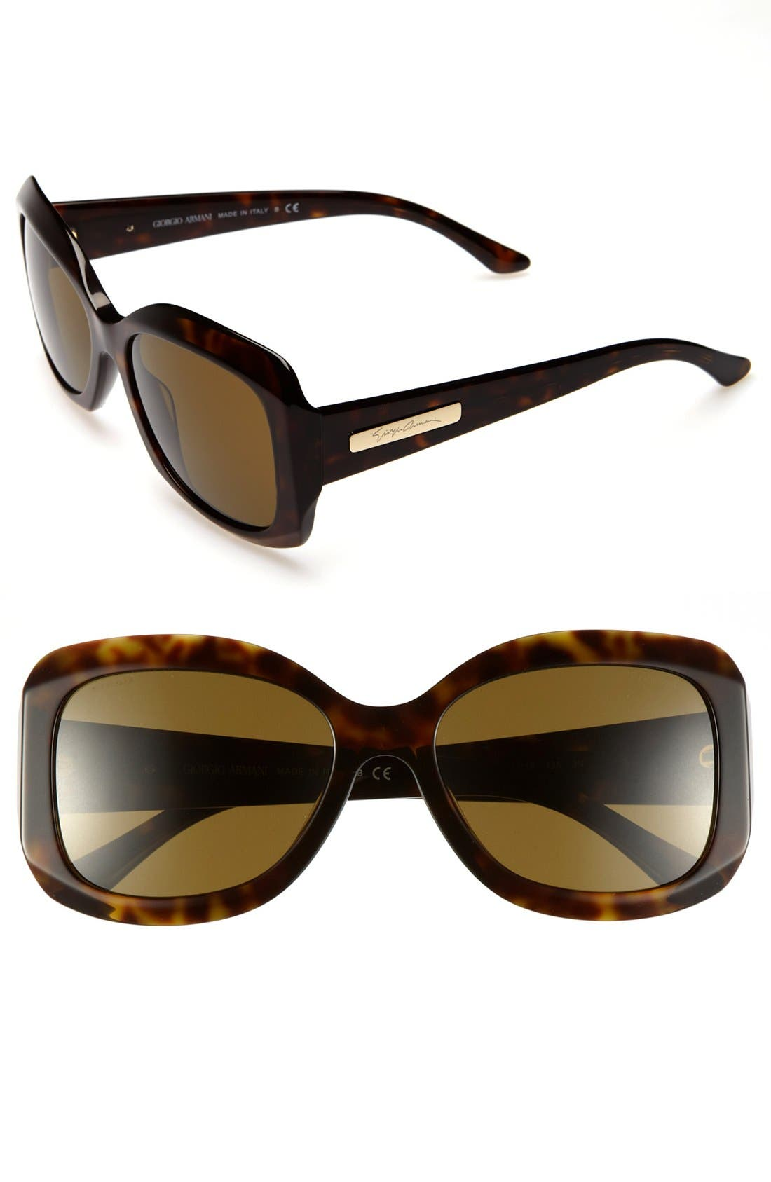 Alternate Image 1 Selected - Giorgio Armani 55mm Sunglasses