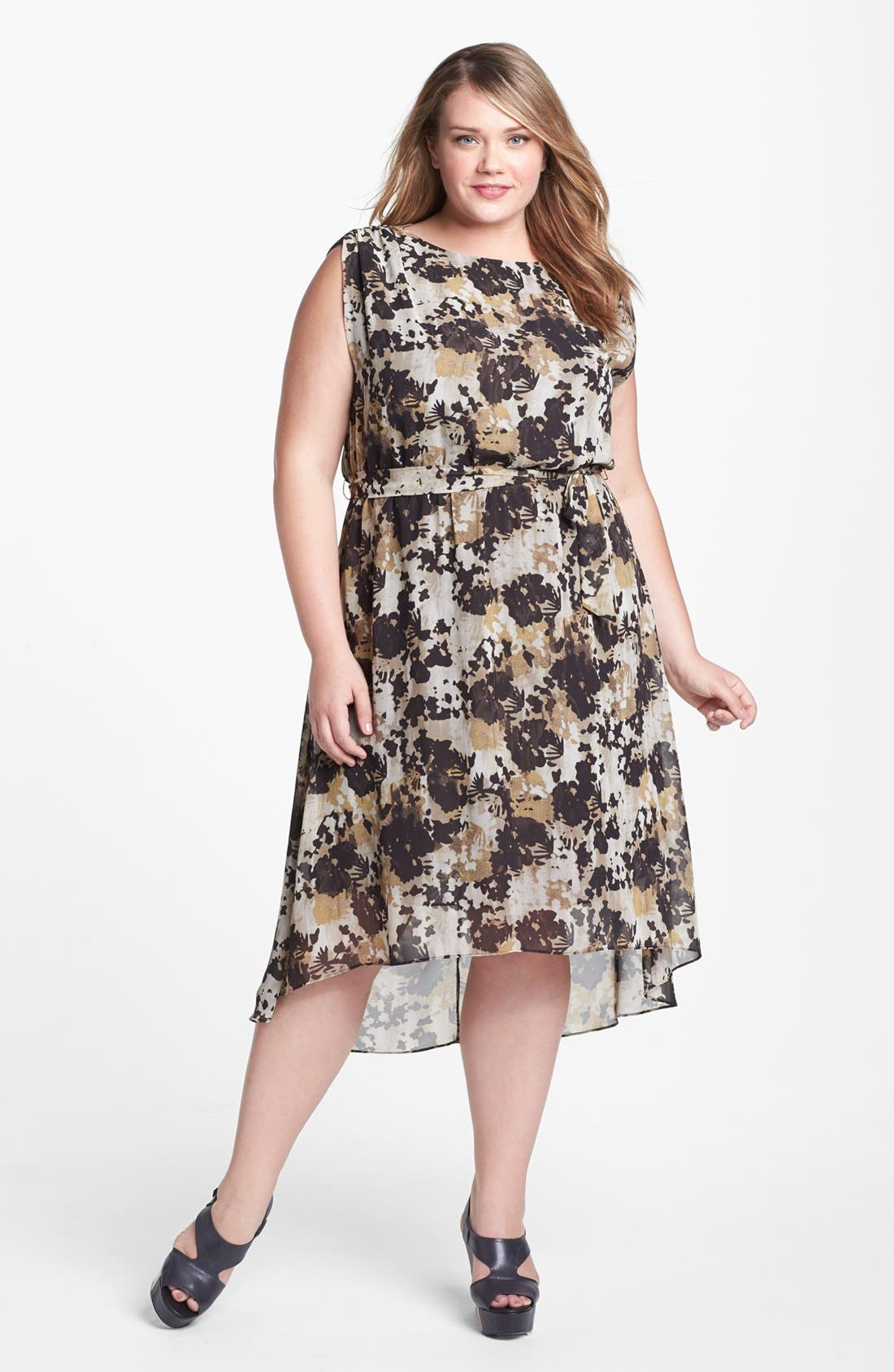 Alternate Image 1 Selected - Vince Camuto High/Low Dress (Plus Size) (Online Only)