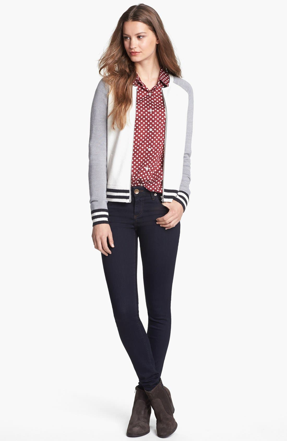 Alternate Image 1 Selected - Halogen® Cardigan, Shirt & KUT from the Kloth Jeans