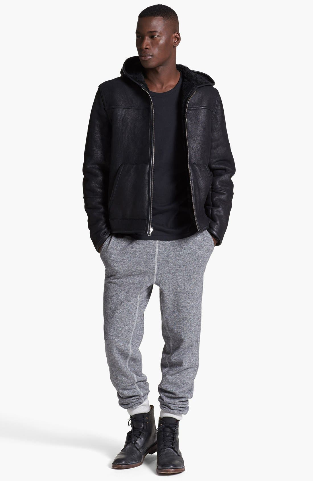 Alternate Image 5  - T by Alexander Wang Reversible Genuine Shearling Leather Jacket