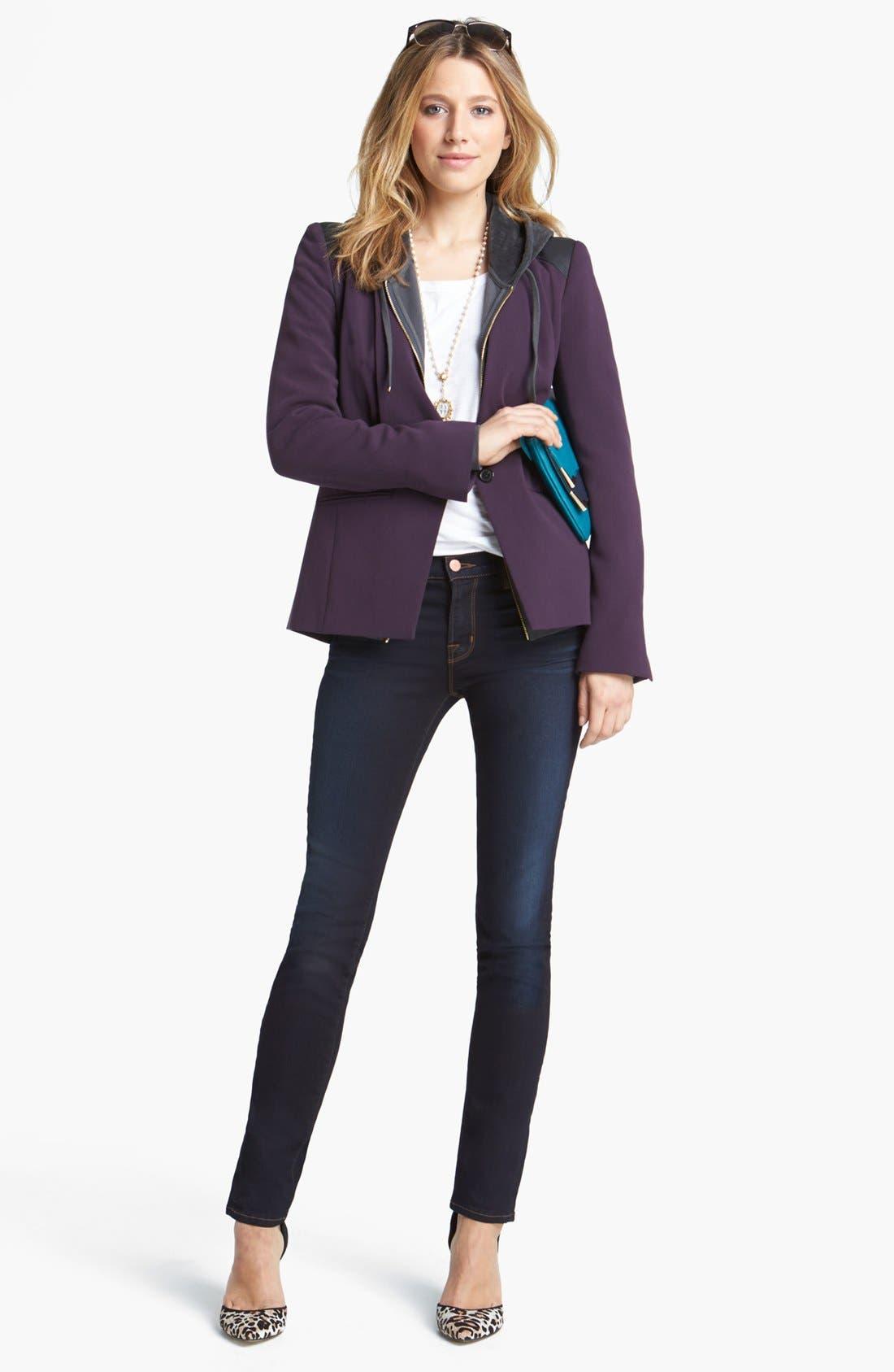Alternate Image 7  - J Brand '8112 Mid Rise Rail' Skinny Jeans (Atlantis)
