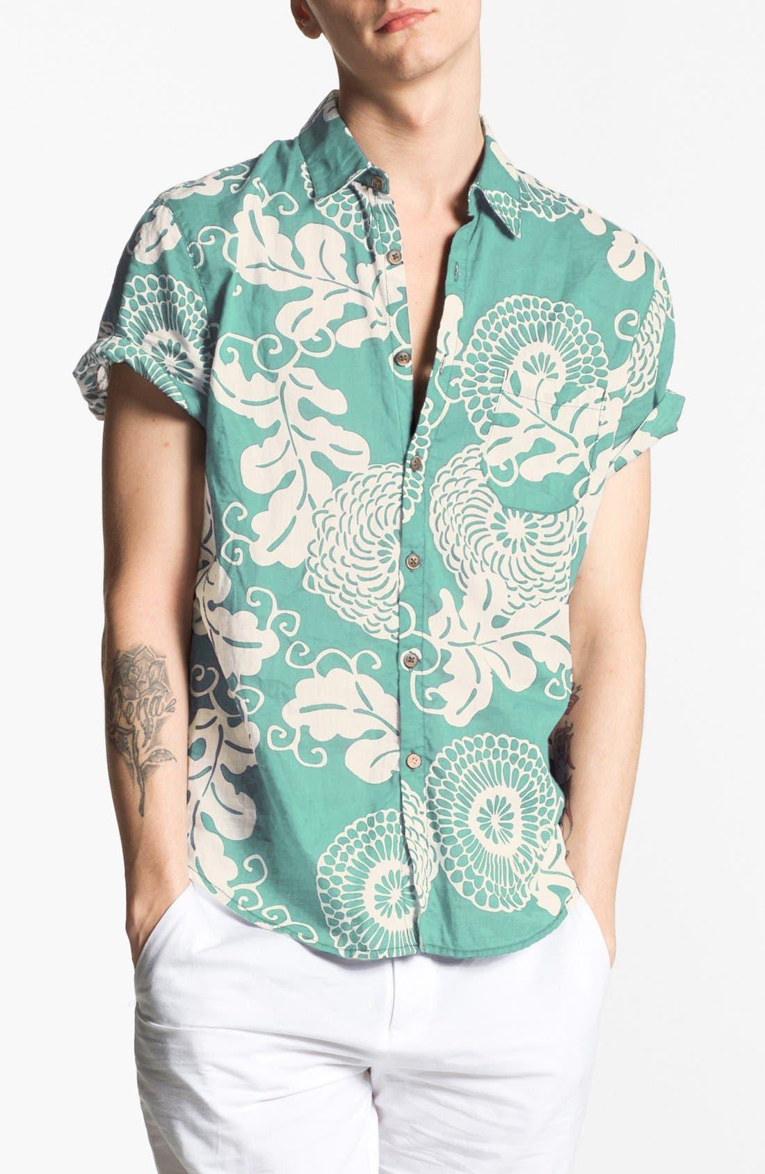 Alternate Image 1 Selected - life/after/denim Print Cotton Shirt