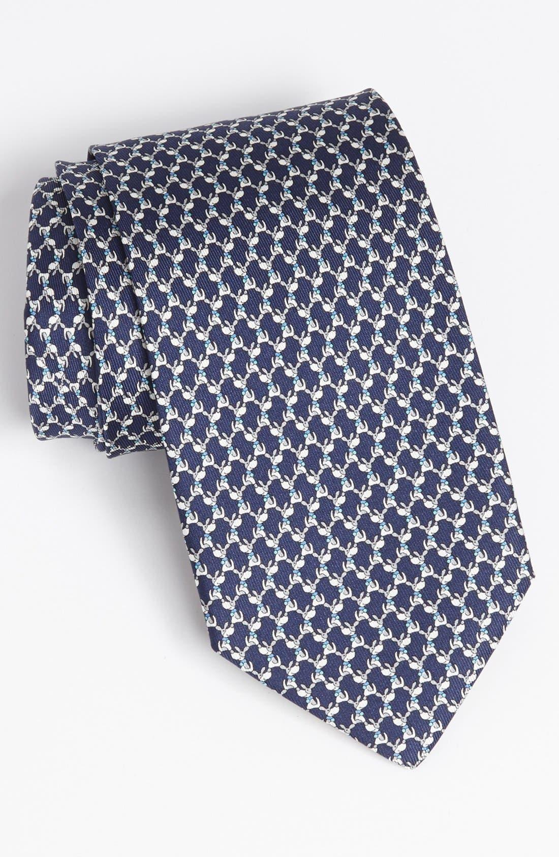 Main Image - Salvatore Ferragamo Kangaroo Print Silk Tie