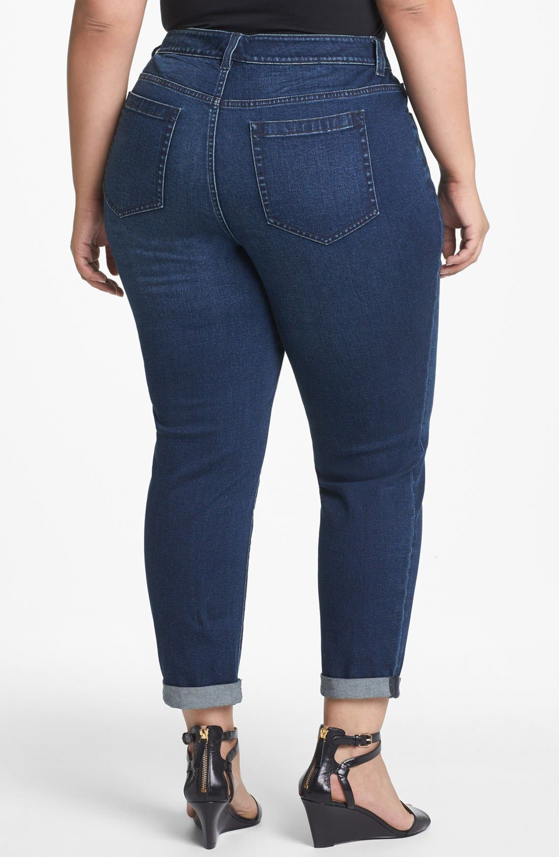Alternate Image 2  - Two by Vince Camuto Cuff Crop Jeans (Plus Size)