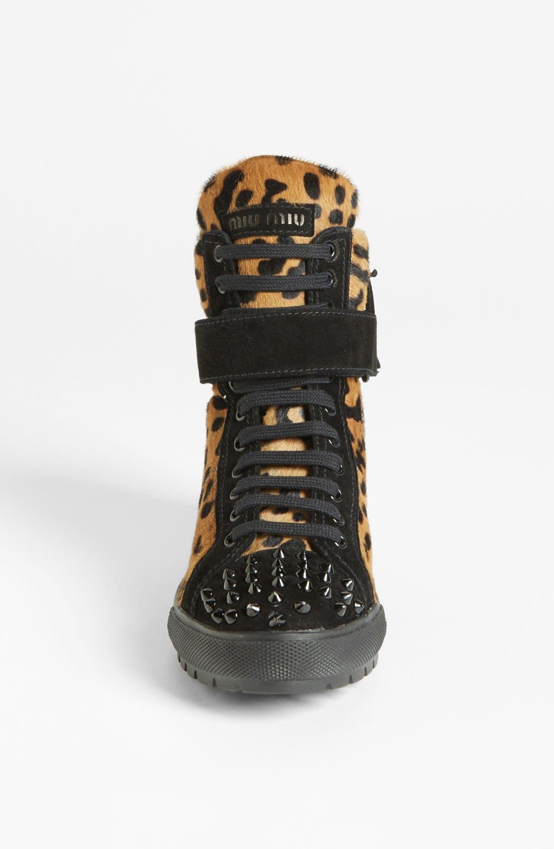 Alternate Image 3  - Miu Miu Wedge Sneaker