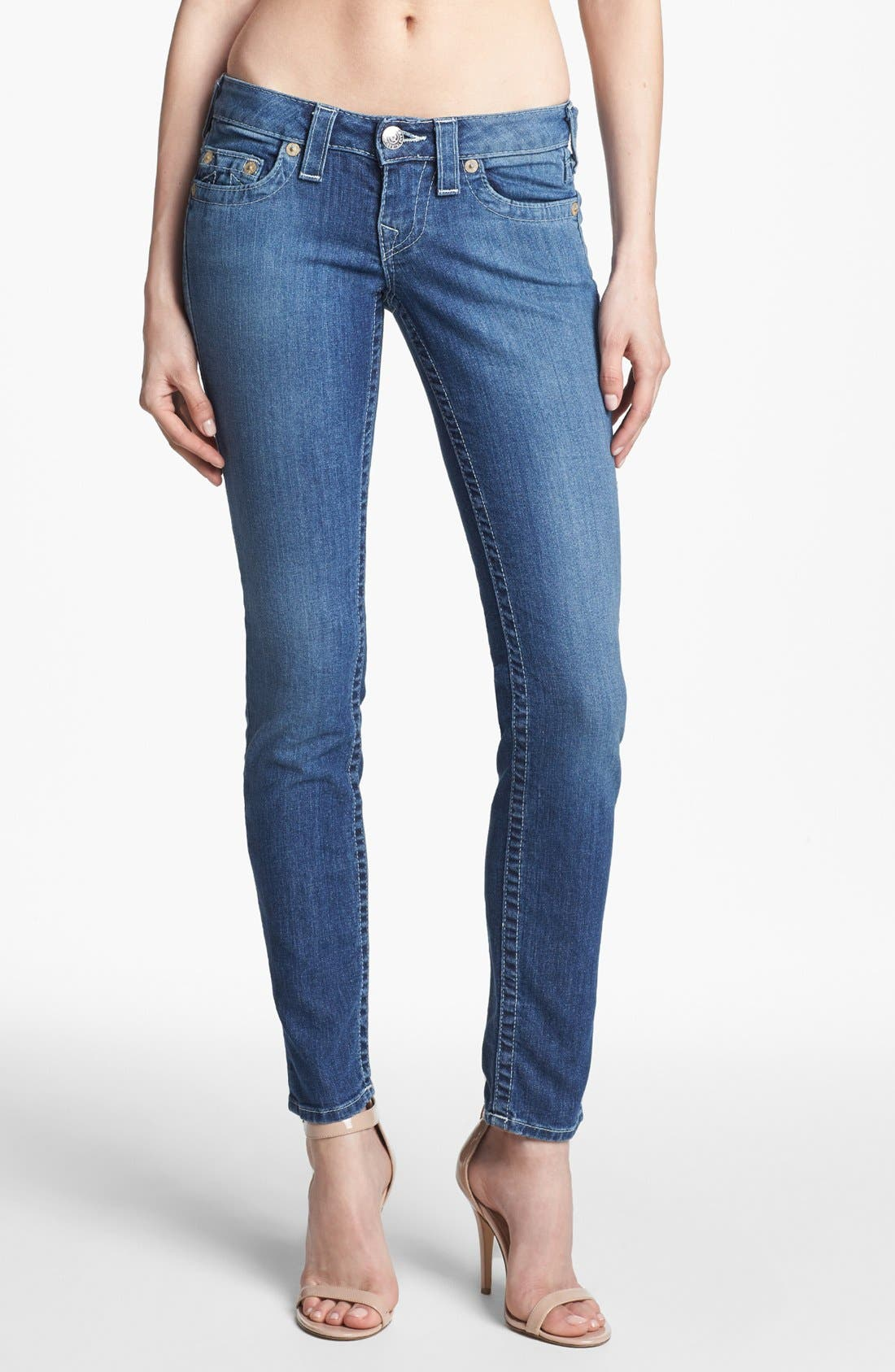Alternate Image 1 Selected - True Religion Brand Jeans 'Stella' Skinny Jeans (Cabin Creek)
