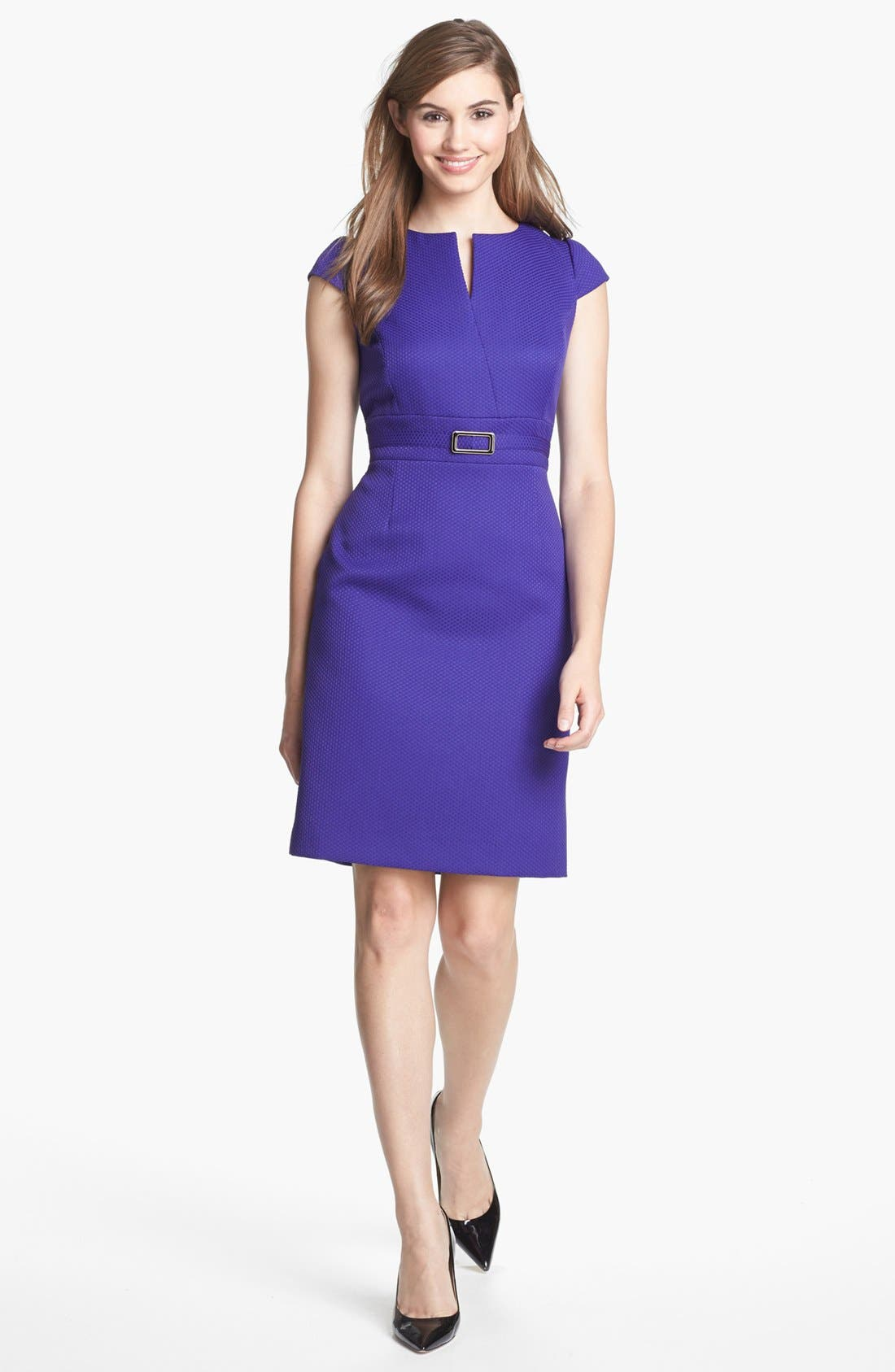 Alternate Image 1 Selected - Tahari Jacquard Sheath Dress