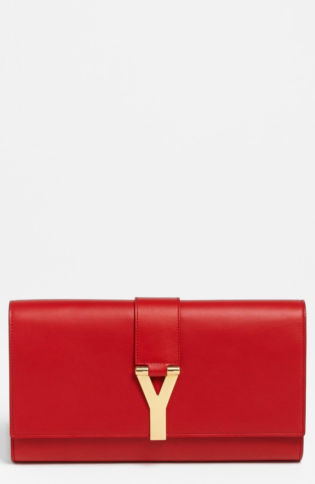 Main Image - Saint Laurent 'Y' Leather Clutch
