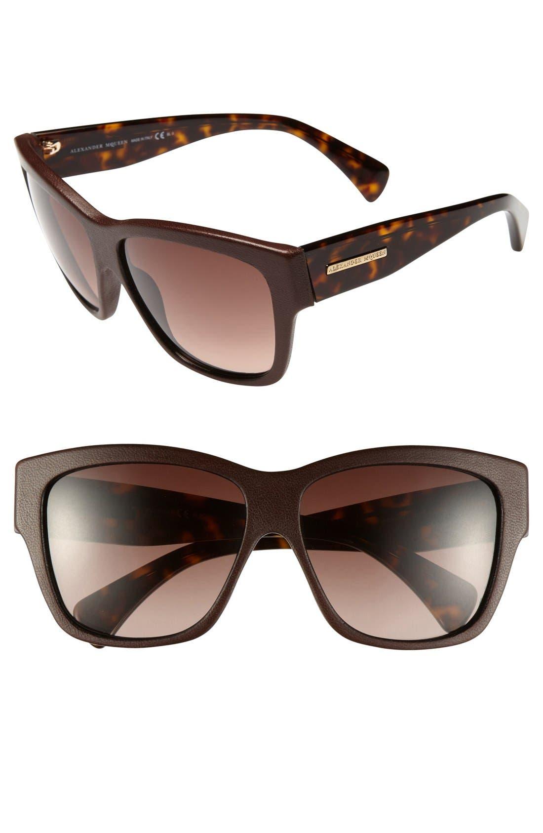 Alternate Image 1 Selected - Alexander McQueen 59mm Retro Sunglasses