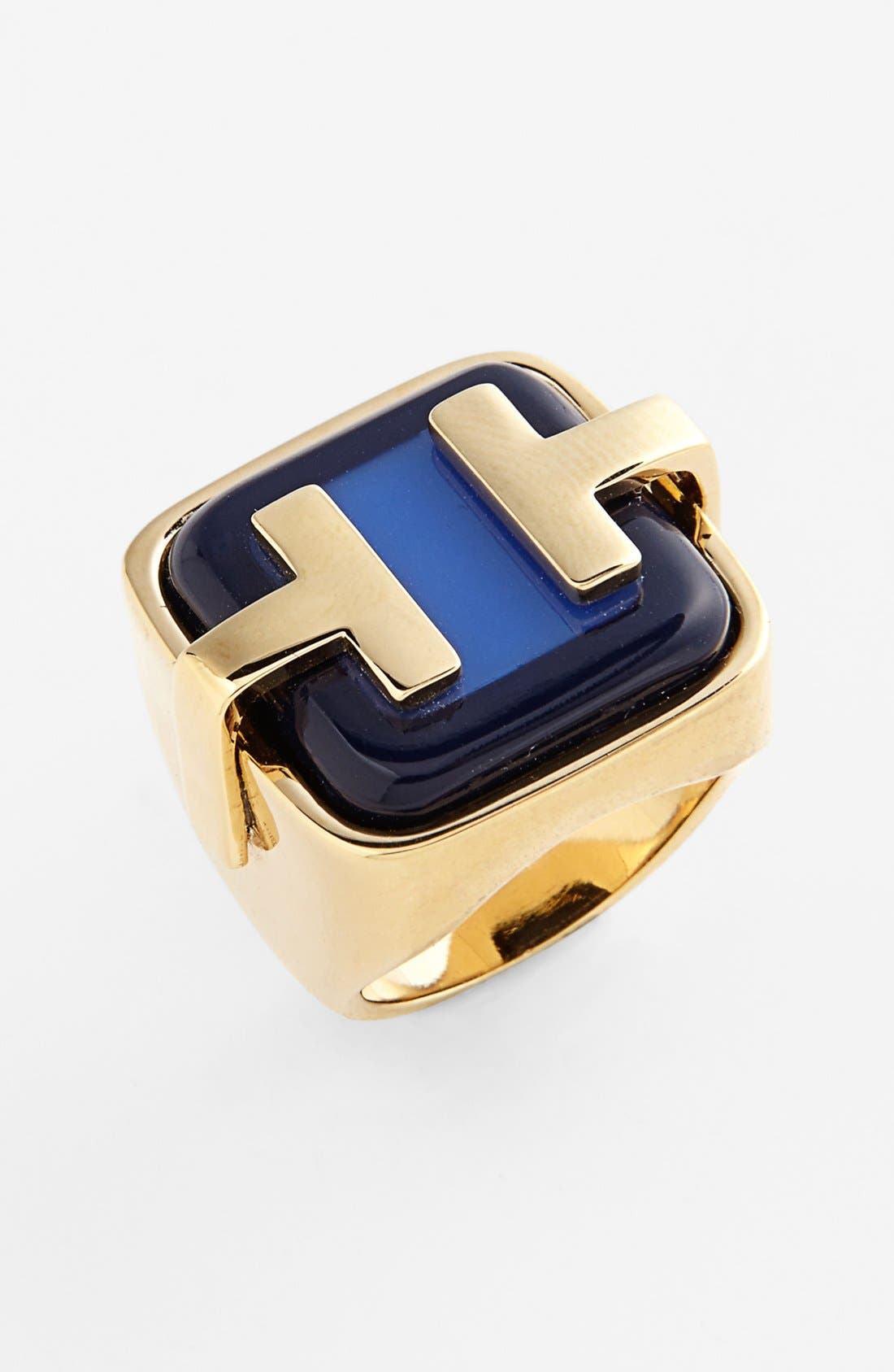 Alternate Image 1 Selected - Tory Burch 'Travis' Logo Ring