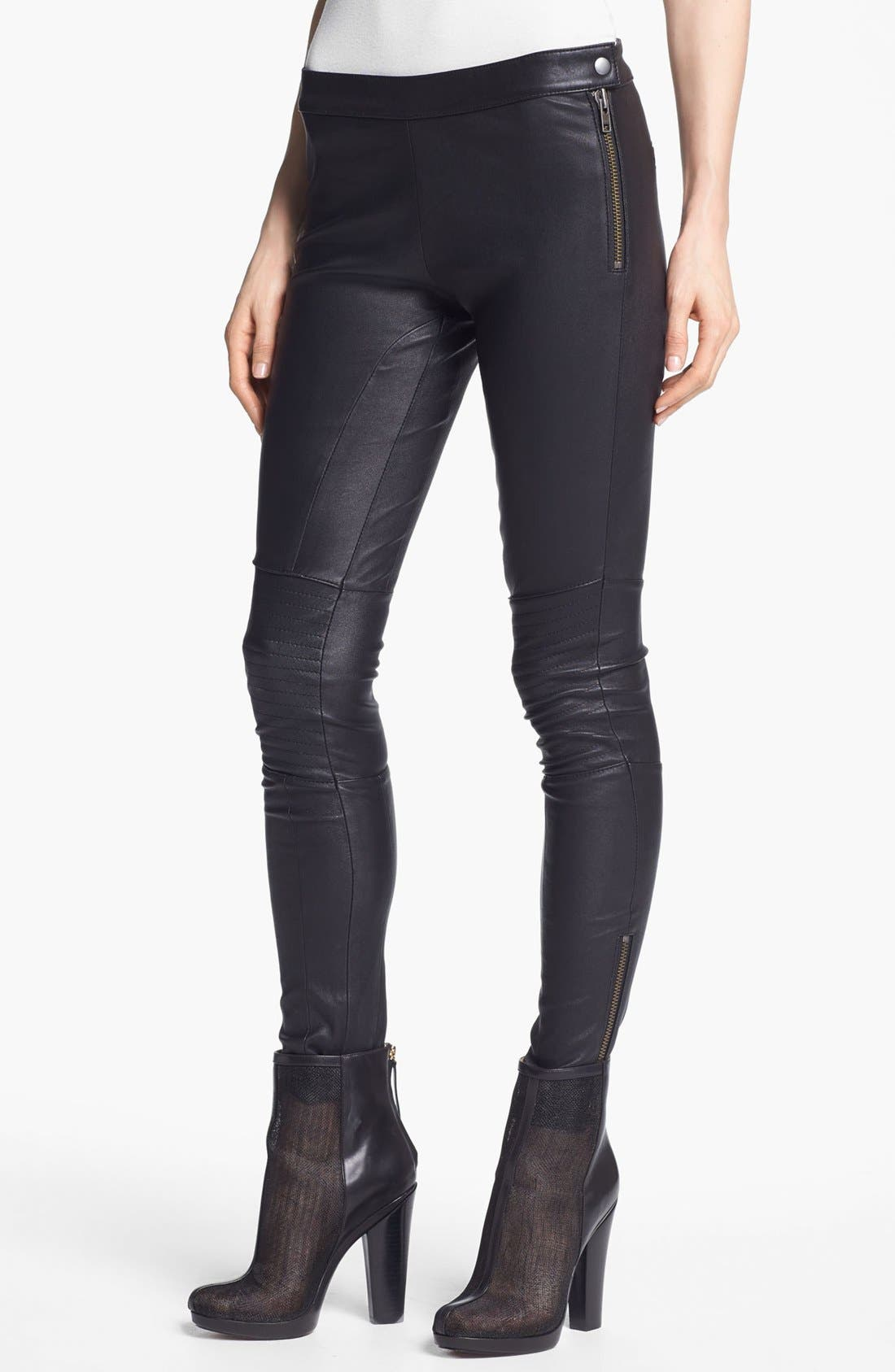 Alternate Image 1 Selected - Rachel Zoe 'Maxine' Skinny Stretch Leather Pants