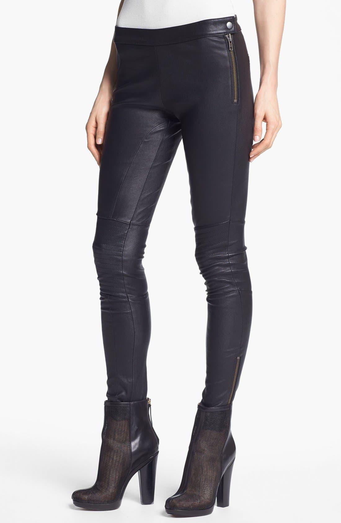 Main Image - Rachel Zoe 'Maxine' Skinny Stretch Leather Pants